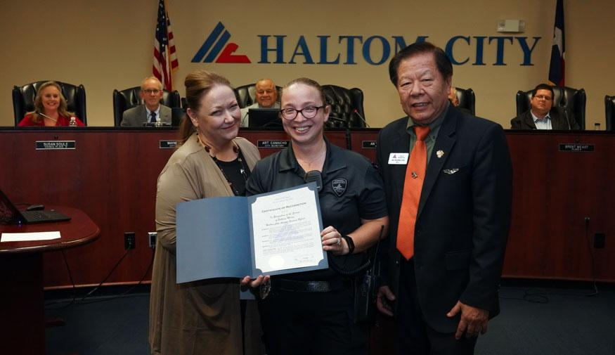 haltom city council oct 28 2019 - Animal Services Officer Bethany Morris