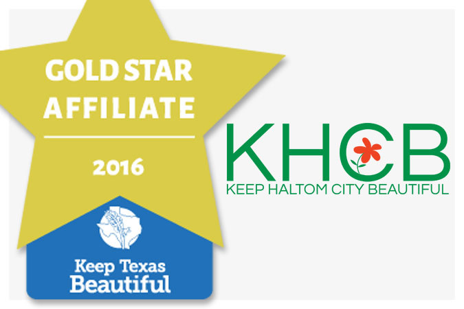 keep haltom city beautiful gold star affiliate 2016 award