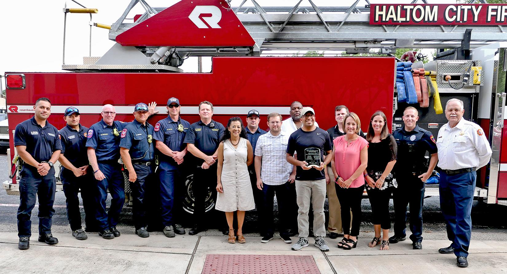 haltom city fire rescue north oaks middle school recognition