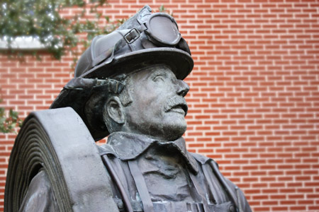 haltom city fire rescue statue station 1