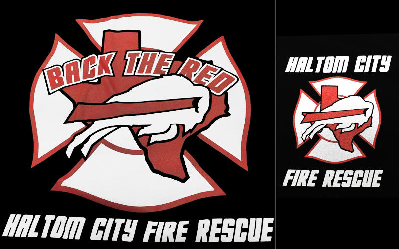 haltom city fire services board t shirt sale december 2016