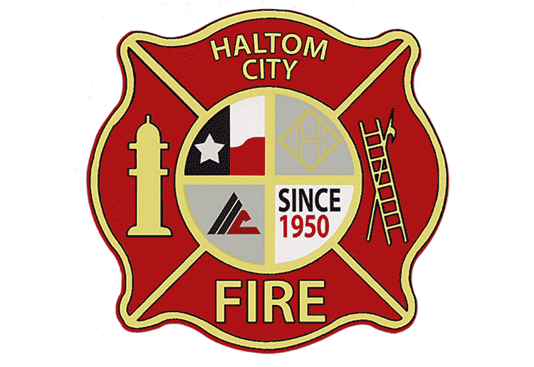 haltom city texas fire rescue department logo 750