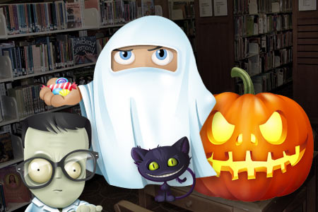haltom city library halloween