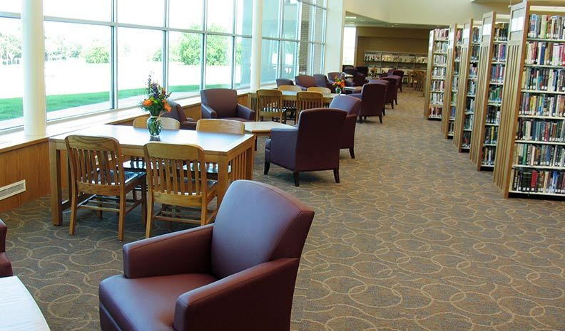 haltom city public library interior