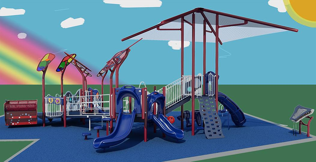 haltom city all access playground render haltom road park