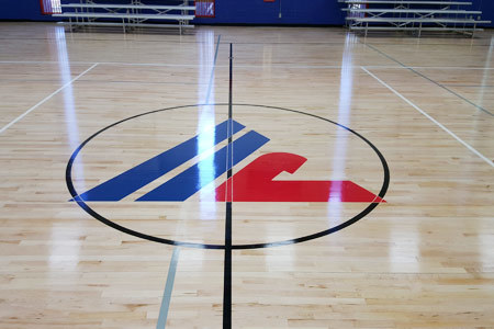 haltom city recreation center new gym floor