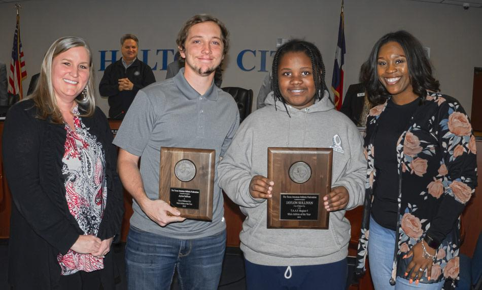 taaf parks recreation nov 12 2018 city council jaylon sullivan athlete of the year