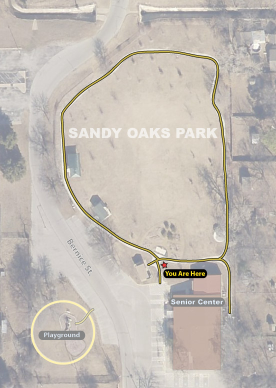 sandy oaks park map trail