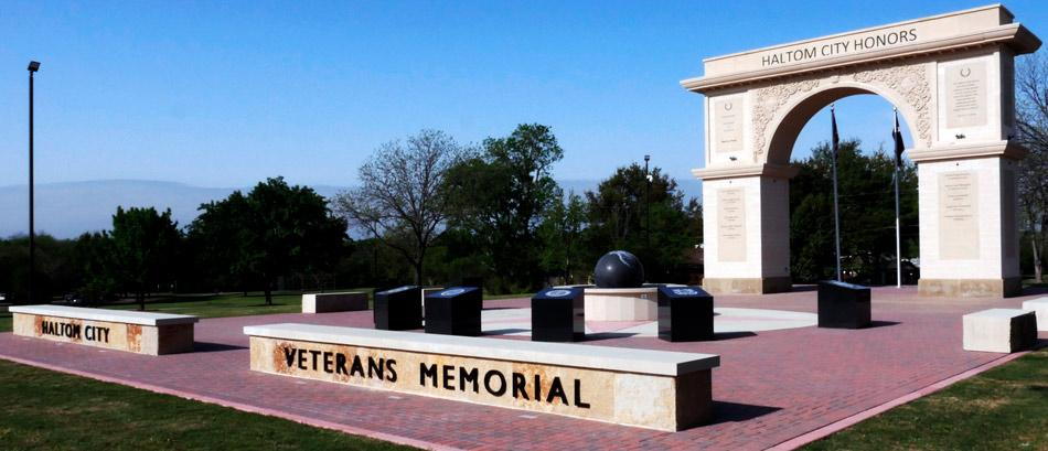 haltom road park veterans memorial angle