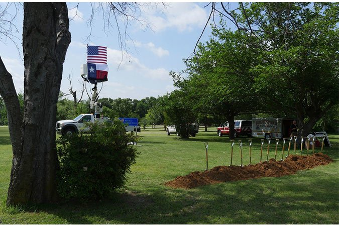 haltom city texas veterans memorial groundbreaking
