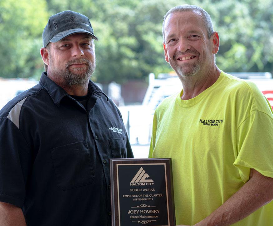 haltom city public works street maintenance employee 1q 2019 joey Howery