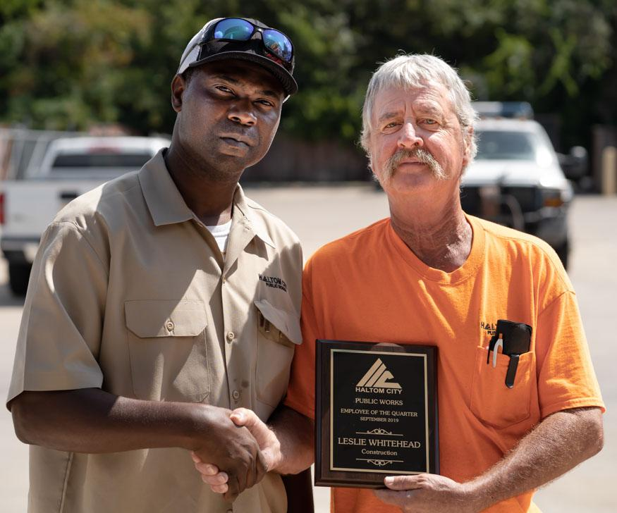 haltom city public works construction employee 1q 2019 leslie whitehead