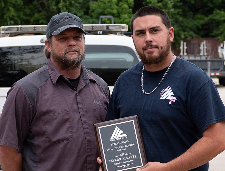 haltom city public works street maintenance employee 1q 2019 taylor alvarez