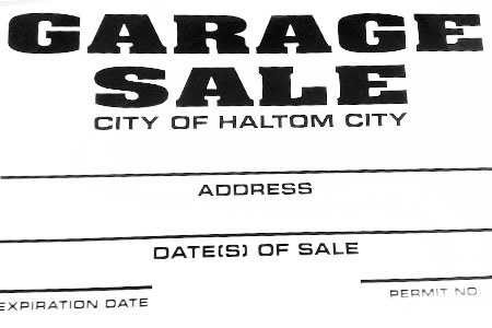 haltom city garage sale sign